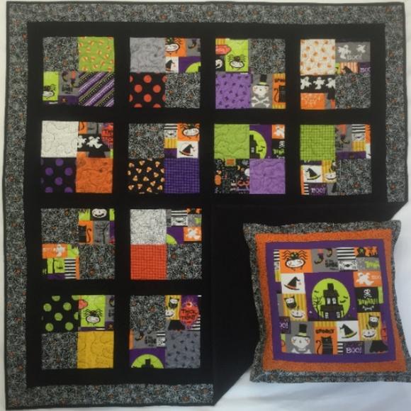 Halloween Quilt / Wall Hanging \u0026 Pillowcase Boutique